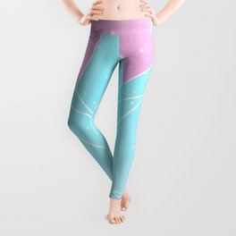 Sparkly Blue Crystals Design Leggings