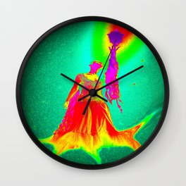 the woman lighthouse  abstract  Wall Clock