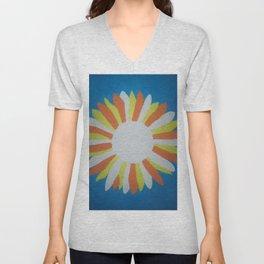 White Sunflower Unisex V-Neck