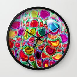 Slipping & Sliding - Joyful Pattern #society6 #lifestyle Wall Clock