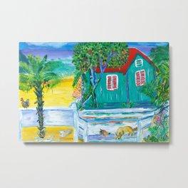 Island Dog's Porch Metal Print