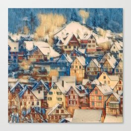 Rustic Winter Scene B Canvas Print
