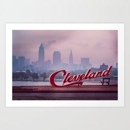 Homesick - Cleveland Skyline Art Print