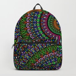 Hypnotic Church Window Mandala Backpack