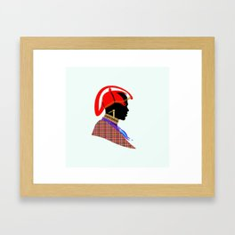 massai warrior kenya africa graphic art Framed Art Print