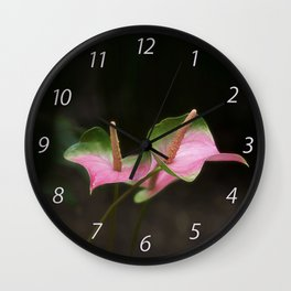 Pink Anthurium Wall Clock