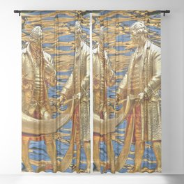 The Golden Boys Sheer Curtain