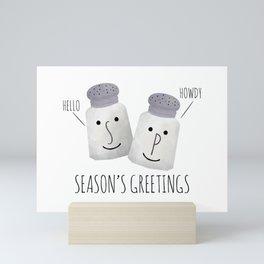 Season's Greetings - Salt And Pepper Mini Art Print