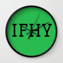 IFHY Wall Clock