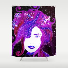 SpaceGirl Shower Curtain
