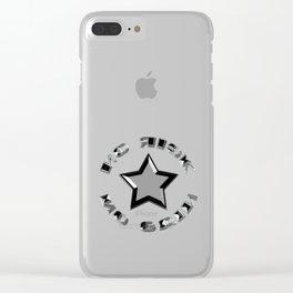 No risk no gain Clear iPhone Case