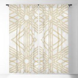 Golden stars on cream marble Blackout Curtain
