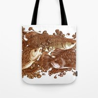 giants Tote Bags featuring Lucky Giants by KZjl