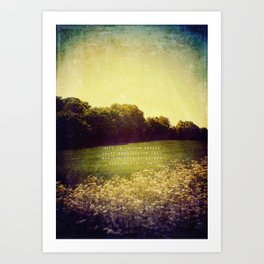 Summer Hills Blues Art Print