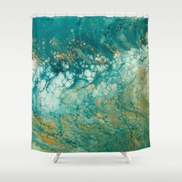 Mermaid Tails Resin Painting Shower Curtain