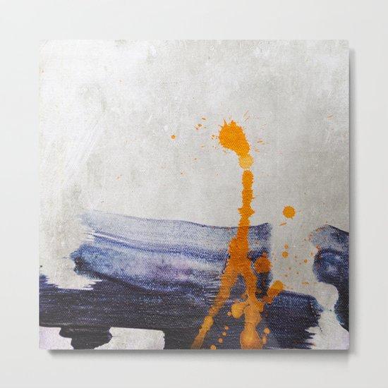 brush strokes blue orange Metal Print