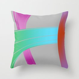 by the rubber band Throw Pillow