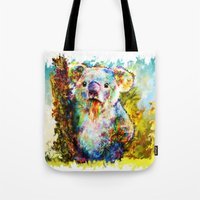 koala Tote Bags featuring Koala  by ururuty
