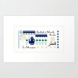 Paris _ le quartier arabe Art Print
