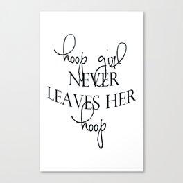 Hoop Girl - No Hoop Canvas Print