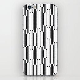 Spells - Geometric Lines Pattern (Black) iPhone Skin