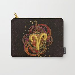 Aries Zodiac Sign Fire element Carry-All Pouch