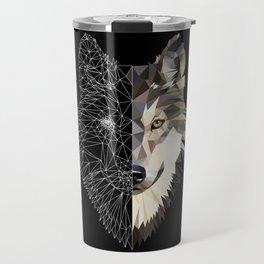 Mixed Wolf Travel Mug