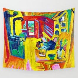 Ernst Ludwig Kirchner Alpine Kitchen Wall Tapestry
