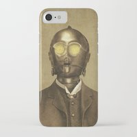 victorian iPhone & iPod Cases featuring Baron Von Three PO  by Terry Fan