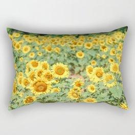 Sunflower Fields Rectangular Pillow