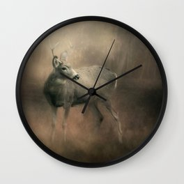 Buck In The Woods Wall Clock