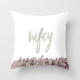 wifey Throw Pillow