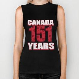 Canada 151 Years Anniversary - Canada Day Biker Tank