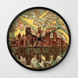 pittsburgh city skyline Wall Clock