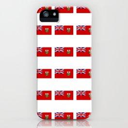 Flag of manitoba -Manitoban,rupert,Winnipeg,Brandon,Steinbach,portage,canada. iPhone Case