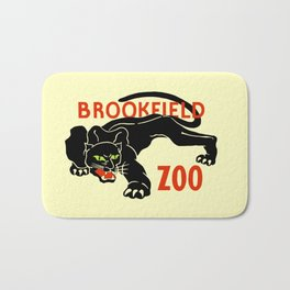 Black panther Brookfield Zoo ad Bath Mat