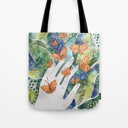 abstract whimsical nature art Tote Bag