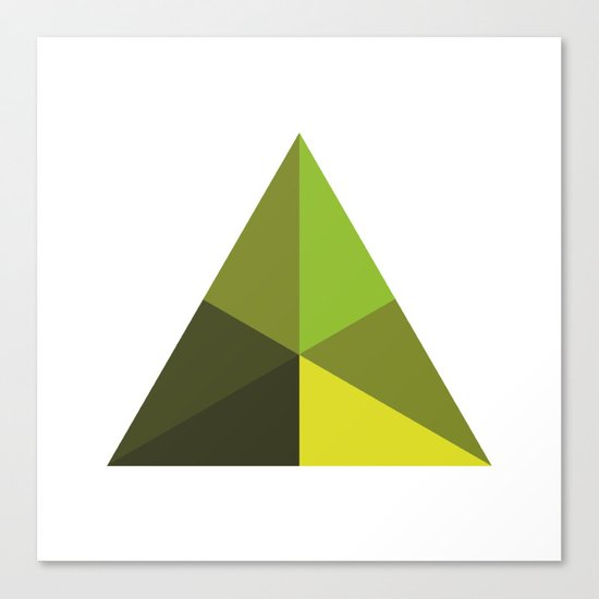 #126 Pyramid – Geometry Daily Canvas Print