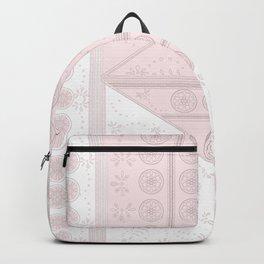 pink vintage tile mandalas Backpack