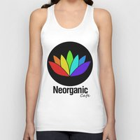 cafe Tank Tops featuring Neorganic Cafe by oldi