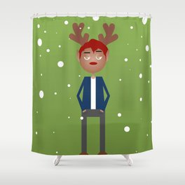 Jimmy the Reindeer Shower Curtain