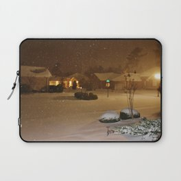 Coastal Winter Snow Storm Laptop Sleeve