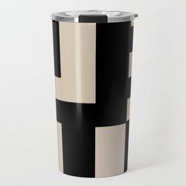 Black and Tan Travel Mug