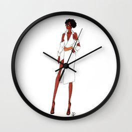 Pinstripe Wall Clock