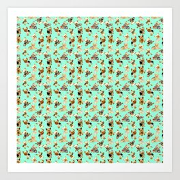 Yorkie Pattern Art Print
