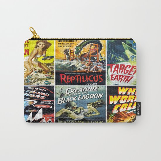 Vintage Sci-Fi Movie Poster Collage Carry-All Pouch