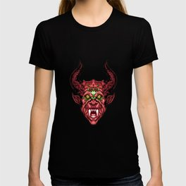 Demon Face - Red T-shirt