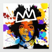 basquiat Canvas Prints featuring BASQUIAT by SebinLondon