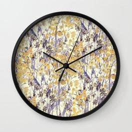 New England Wildflowers Wall Clock