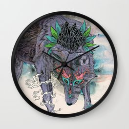 Journeying Spirit (wolf) Wall Clock